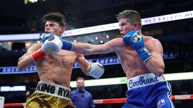 Ryan Garcia knockoutoval svého soupeře tvrdou ranou na žebra a vzal si šampionský pás