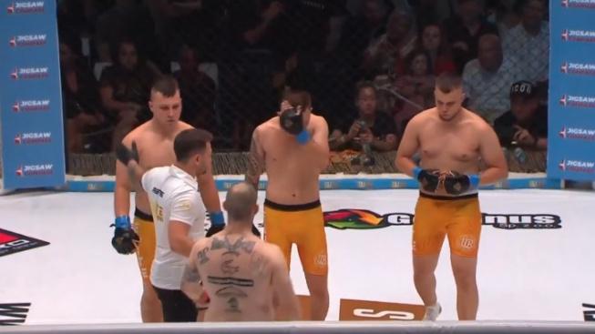 MMA experiment v Polsku, zápas tři na jednoho skončil po pár sekundách přesně tak, jak byste čekali