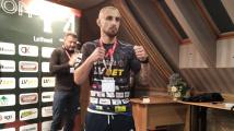 Štěpán Guba po vážení na turnaji organizace A1 v Polsku.